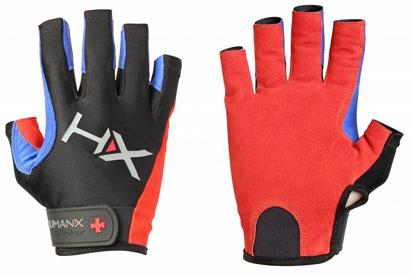 Rukavice na crossfit Harbinger X3 3 4 modro červené. « f5fe874bf2