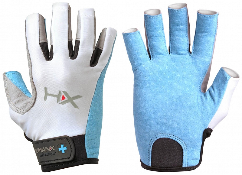 Dámské rukavice na crossfit Harbinger X3 3 4 modro šedé. « b74fea6cb1